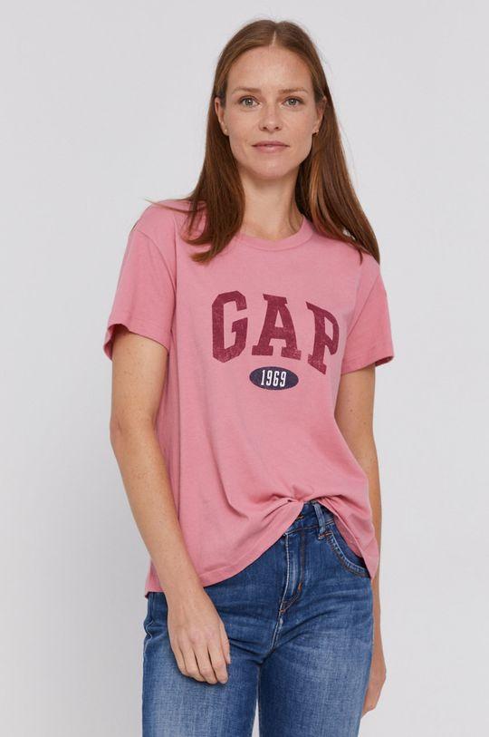 ostry różowy GAP - T-shirt bawełniany Damski