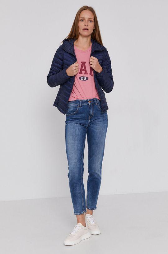 GAP - T-shirt bawełniany ostry różowy