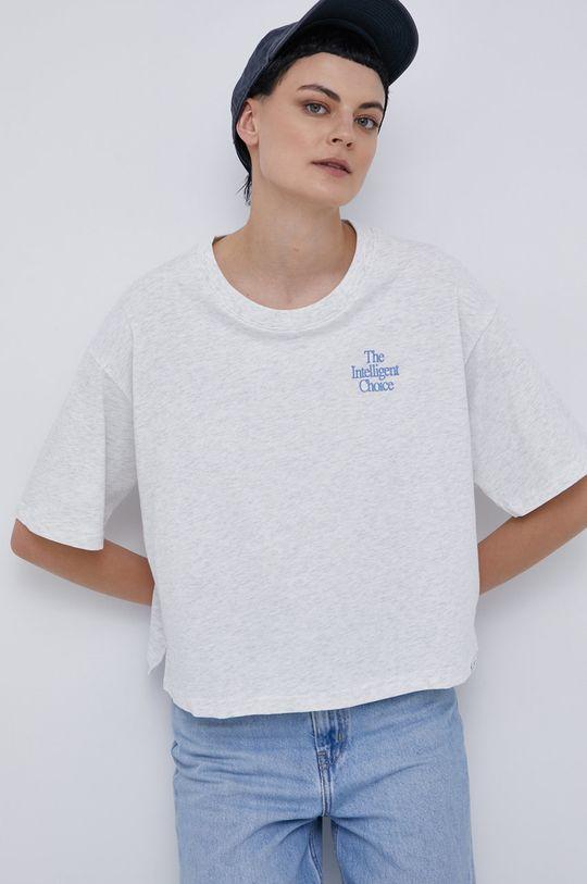 světle šedá New Balance - Bavlněné tričko Dámský