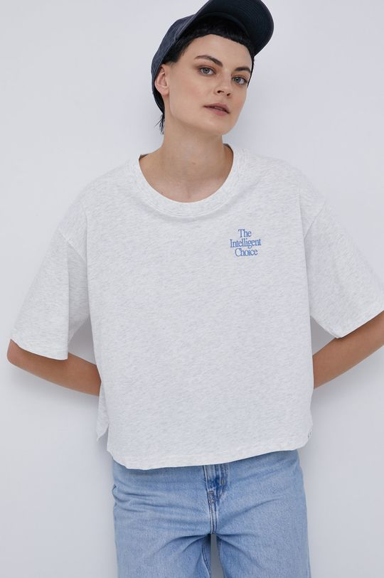 jasny szary New Balance - T-shirt bawełniany Damski