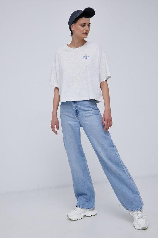 New Balance - T-shirt bawełniany jasny szary
