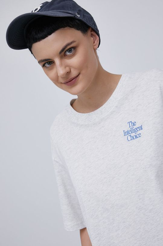 jasny szary New Balance - T-shirt bawełniany