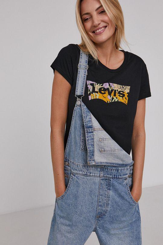 czarny Levi's - T-shirt bawełniany Damski