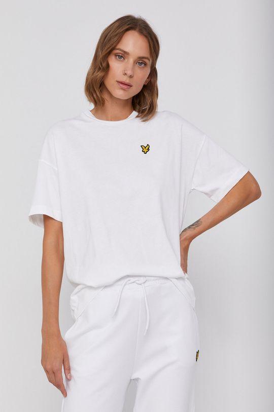 biały Lyle & Scott - T-shirt bawełniany Damski