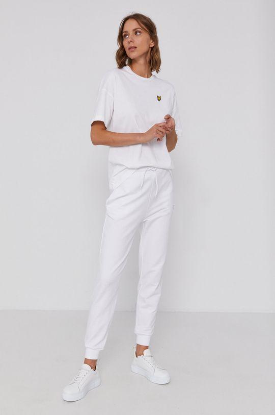 Lyle & Scott - T-shirt bawełniany biały
