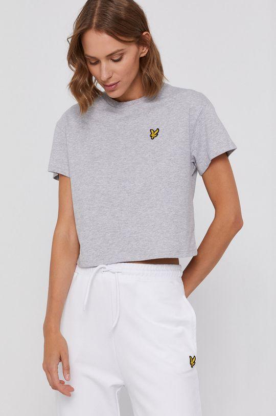 jasny szary Lyle & Scott - T-shirt bawełniany Damski