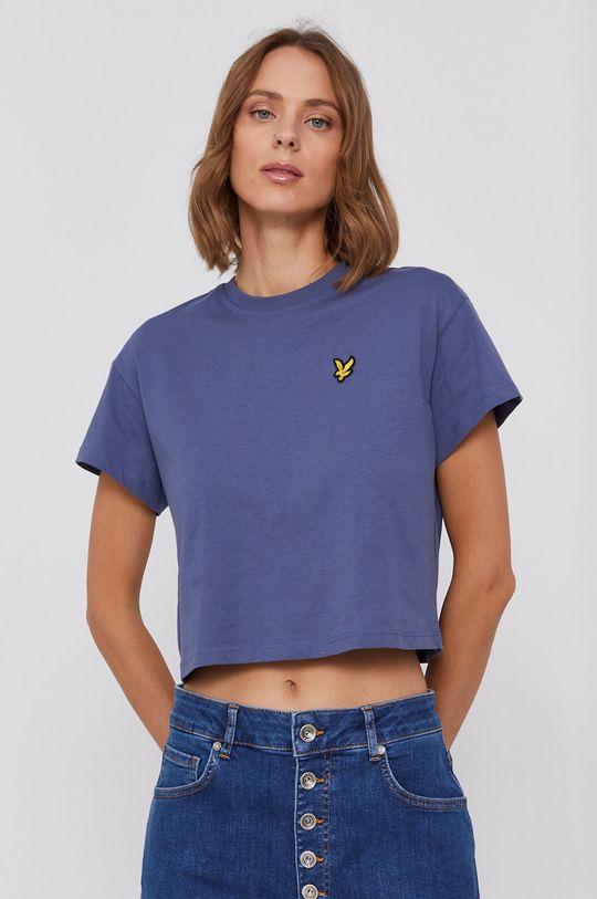 fioletowy Lyle & Scott - T-shirt bawełniany Damski