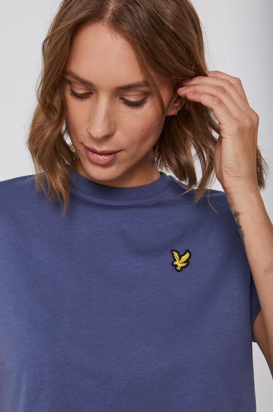 fioletowy Lyle & Scott - T-shirt bawełniany