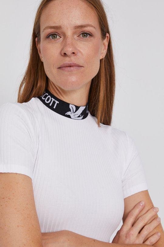 biały Lyle & Scott - T-shirt Damski