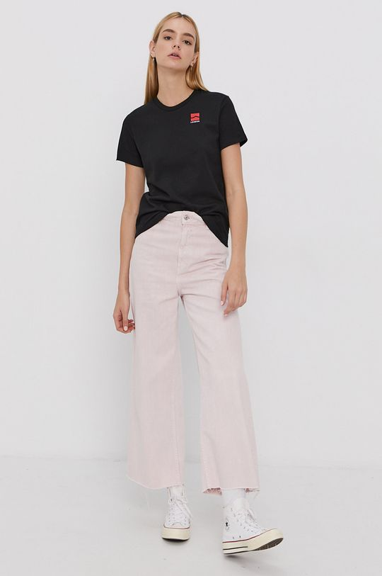 Vans - Tricou din bumbac negru