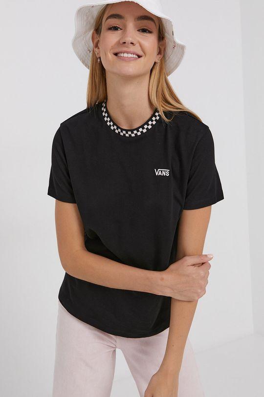 czarny Vans - T-shirt bawełniany Damski