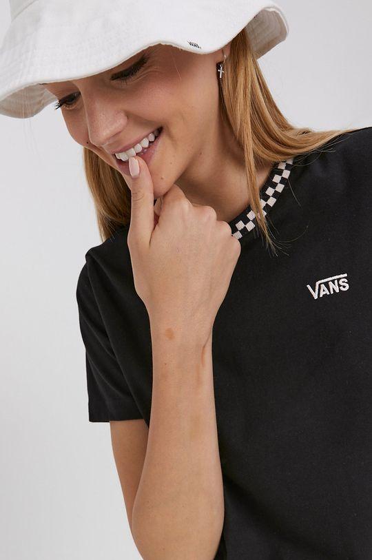 czarny Vans - T-shirt bawełniany