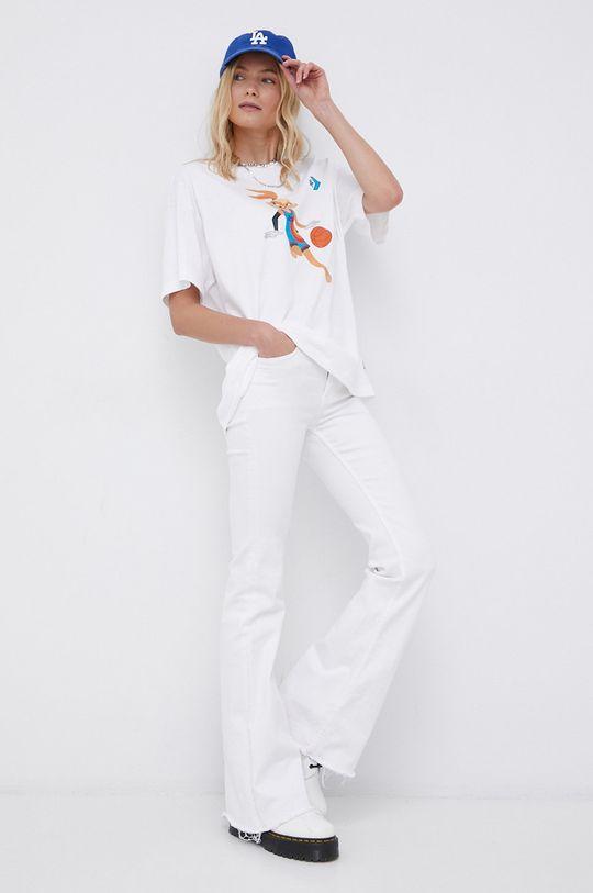 biały Converse - T-shirt Damski