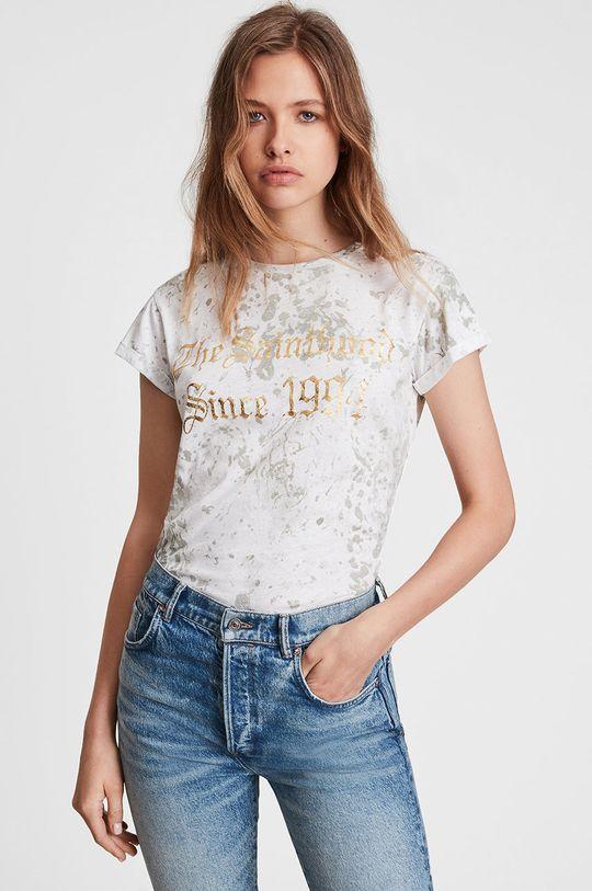 biały AllSaints - T-shirt bawełniany Damski