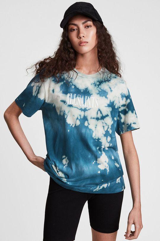niebieski AllSaints - T-shirt bawełniany Damski