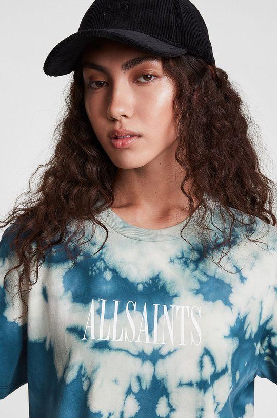AllSaints - T-shirt bawełniany niebieski