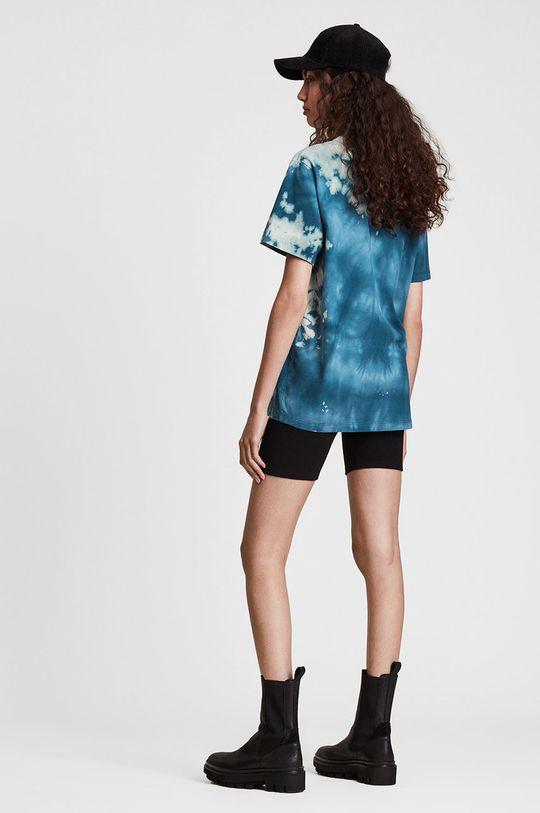 niebieski AllSaints - T-shirt bawełniany