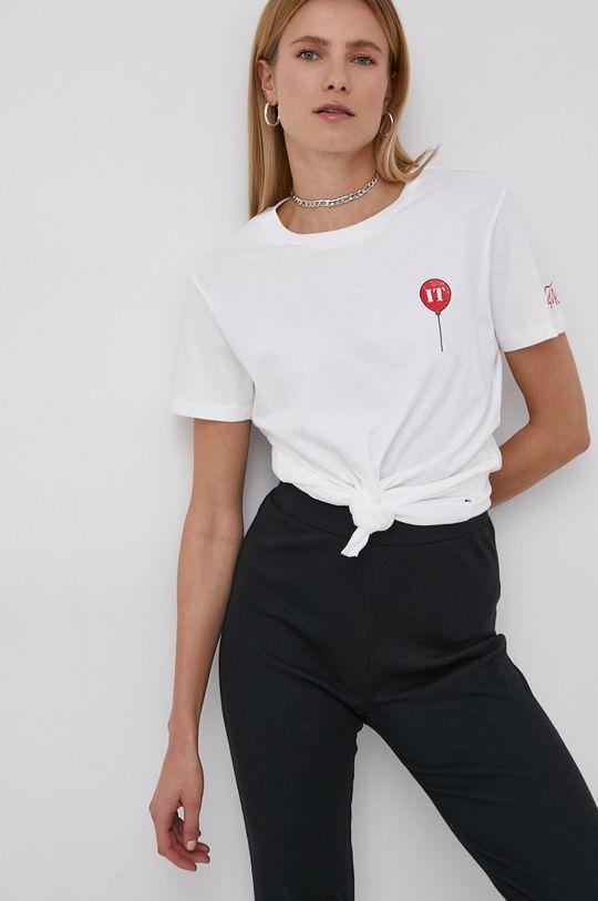 biały Vans - T-shirt bawełniany IT Damski