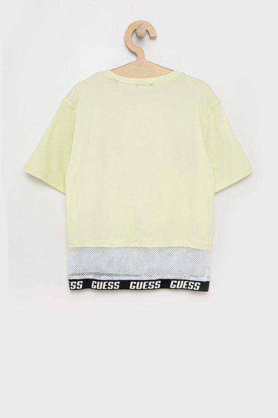 Guess - Detské tričko žlto-zelená