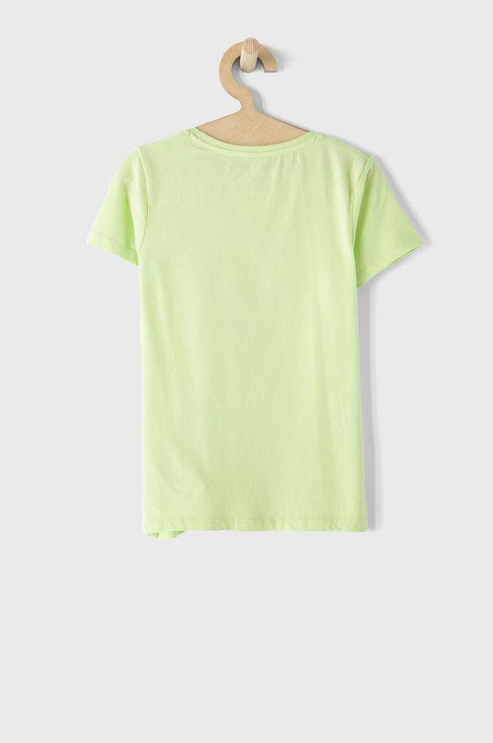 Guess - T-shirt dziecięcy jasny żółty