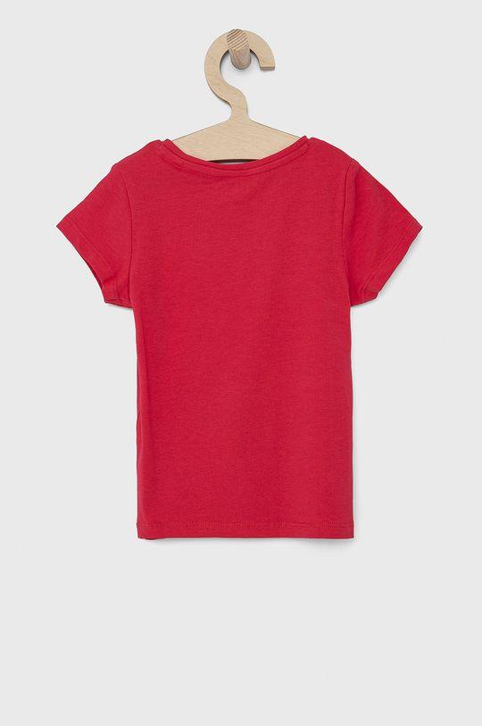 Guess - T-shirt dziecięcy ostry różowy