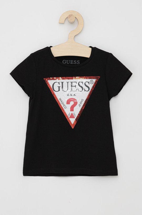 czarny Guess - T-shirt dziecięcy Dziewczęcy