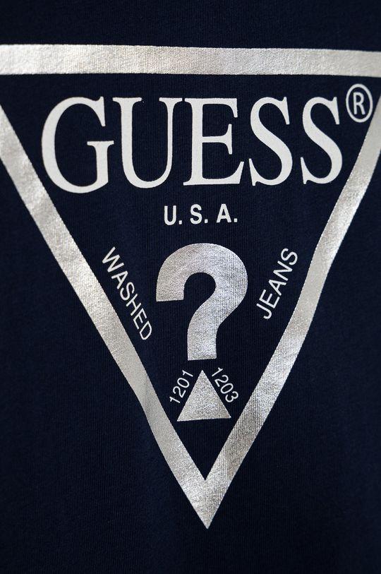 Guess - T-shirt bawełniany dziecięcy granatowy