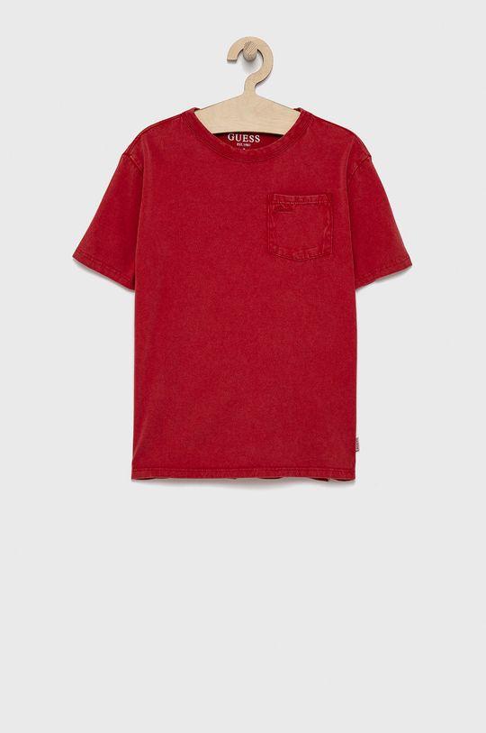 červená Guess - Detské bavlnené tričko Dievčenský