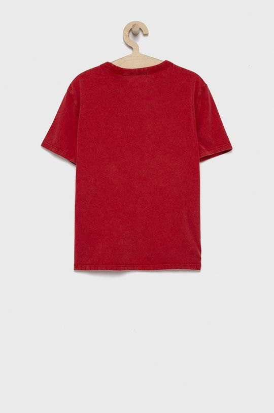 Guess - Detské bavlnené tričko červená