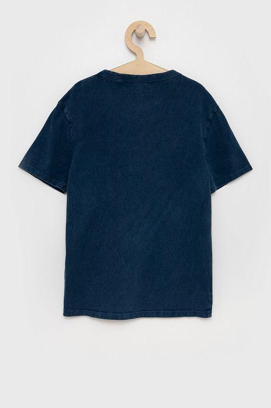Guess - Detské bavlnené tričko tmavomodrá