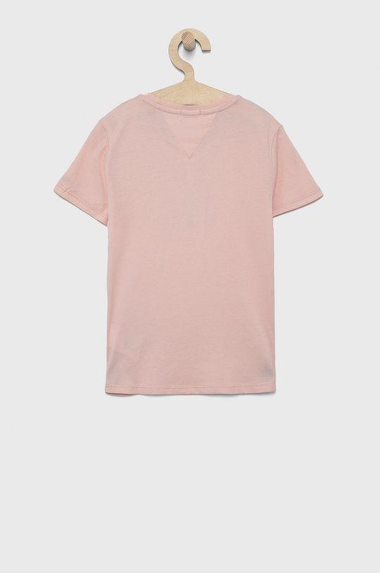 Tommy Hilfiger - T-shirt bawełniany dziecięcy różowy
