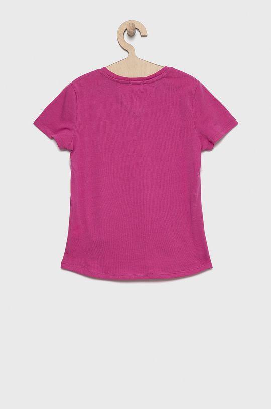 Tommy Hilfiger - T-shirt bawełniany dziecięcy fuksja
