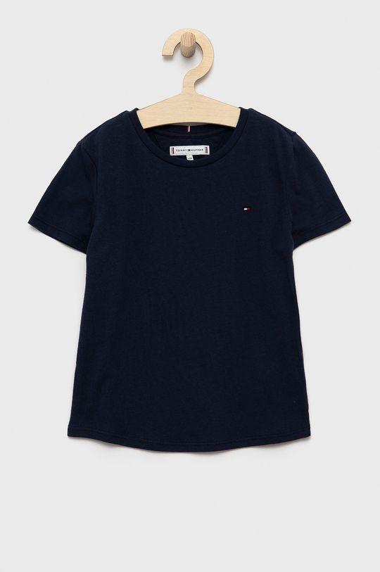 granatowy Tommy Hilfiger - T-shirt dziecięcy Dziewczęcy