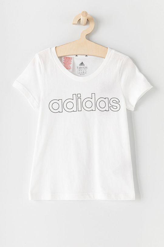 bílá adidas - Dětské tričko 104-170 cm Dívčí