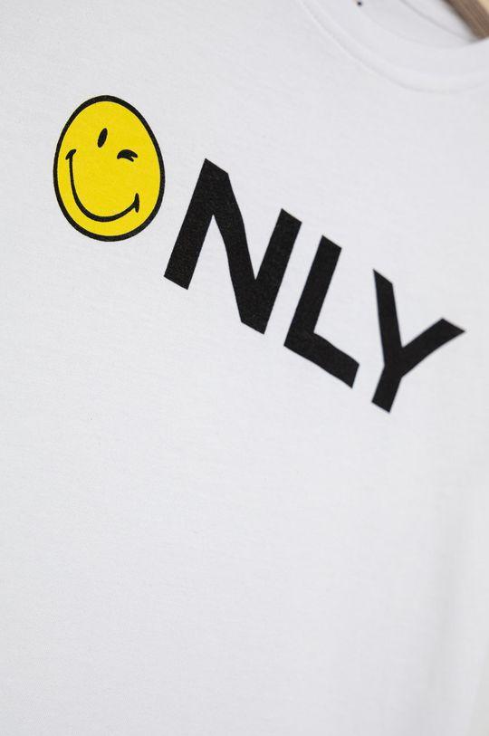 Kids Only - Tricou de bumbac pentru copii x Smiley alb