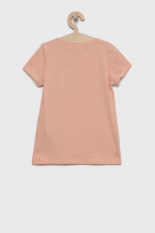 Guess - T-shirt dziecięcy różowy