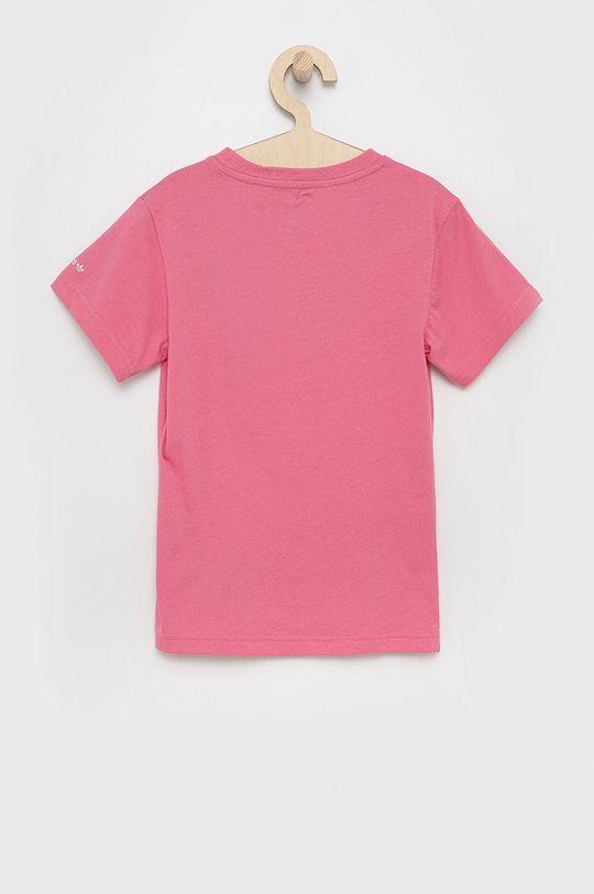 adidas Originals - T-shirt bawełniany dziecięcy różowy