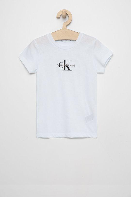 biały Calvin Klein Jeans - T-shirt bawełniany dziecięcy Dziewczęcy