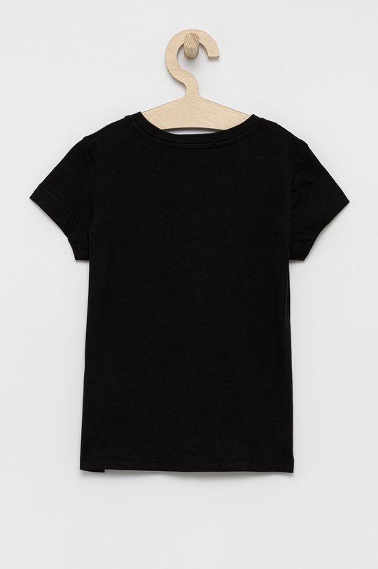 Calvin Klein Jeans - T-shirt bawełniany dziecięcy czarny