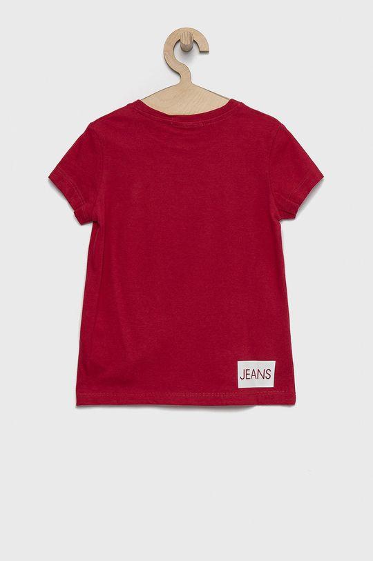 Calvin Klein Jeans - Bavlněné tričko růžová