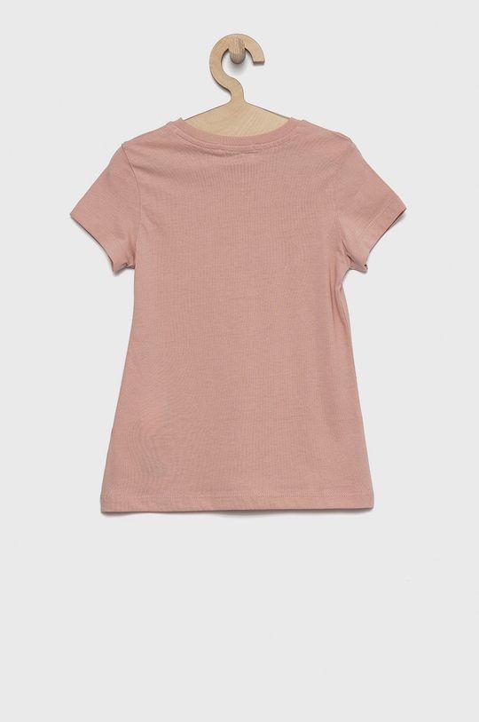 Calvin Klein Jeans - T-shirt bawełniany dziecięcy różowy