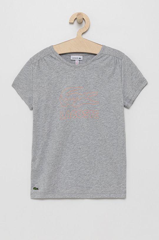 gri deschis Lacoste - Tricou de bumbac pentru copii De fete