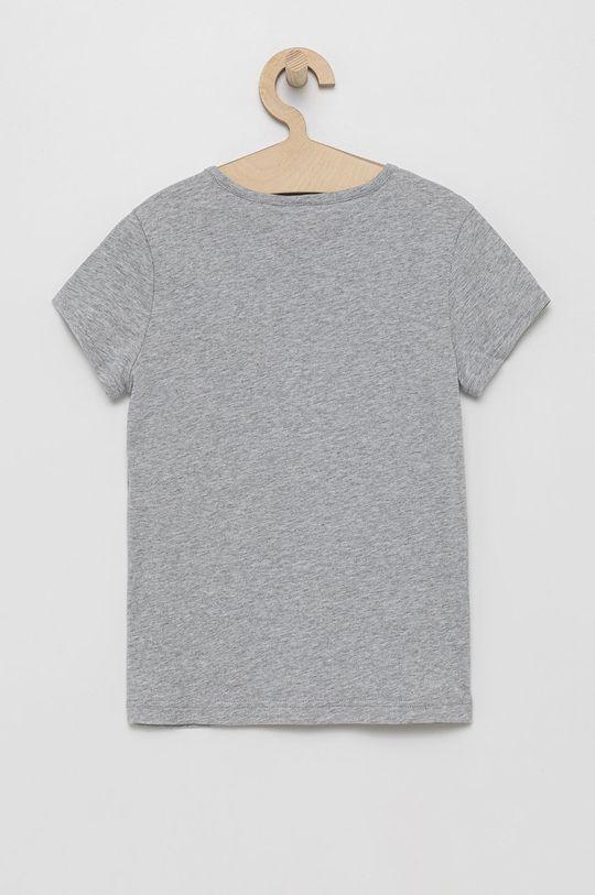 Lacoste - Tricou de bumbac pentru copii gri deschis