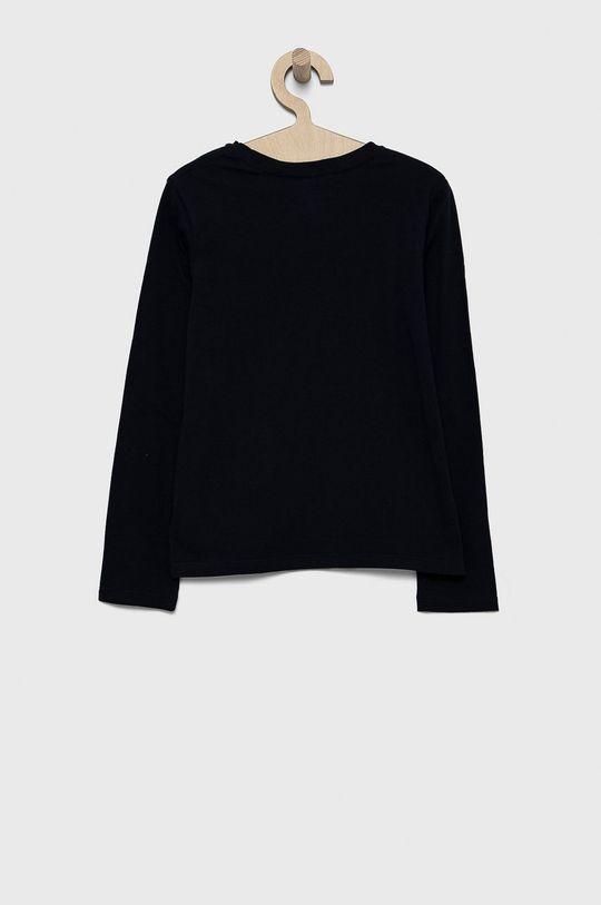 Polo Ralph Lauren - Detská bavlnená košeľa s dlhým rukávom tmavomodrá