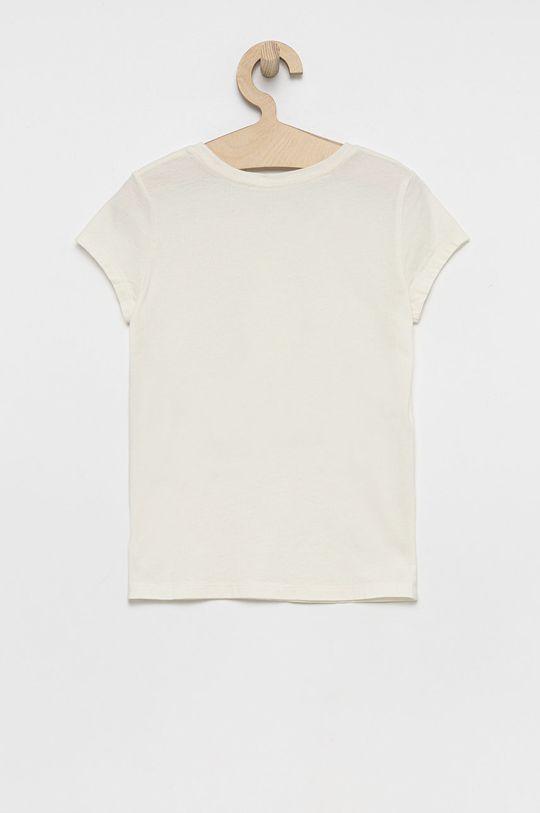 Polo Ralph Lauren - T-shirt bawełniany dziecięcy kremowy