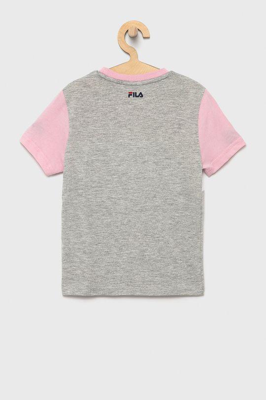 Fila - T-shirt bawełniany dziecięcy jasny szary