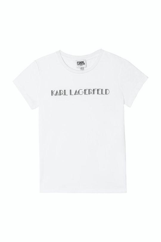 alb Karl Lagerfeld - Tricou copii De fete