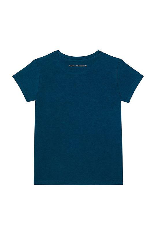 Karl Lagerfeld - Tricou copii turcoaz inchis