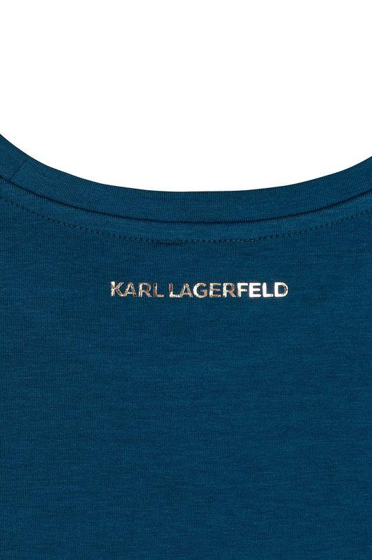 turcoaz inchis Karl Lagerfeld - Tricou copii