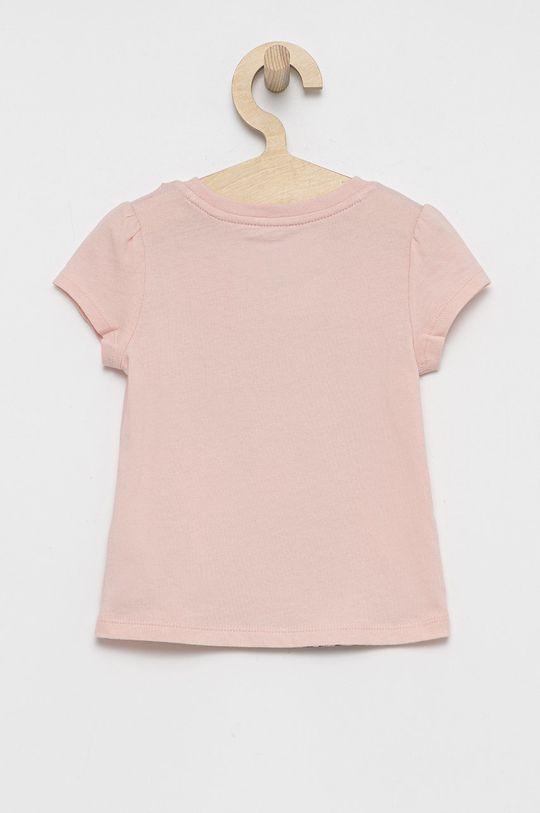 GAP - T-shirt bawełniany dziecięcy x Disney różowy
